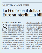 f297389350 La Fed frena il dollaro. Euro su, sterlina in bilico.